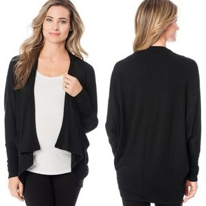 A Pea in the Pod Black Maternity Cascade Cardigan